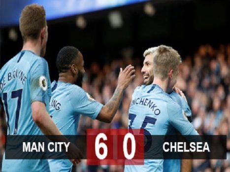 Man City 6-0 Chelsea: Man City soán ngôi đầu
