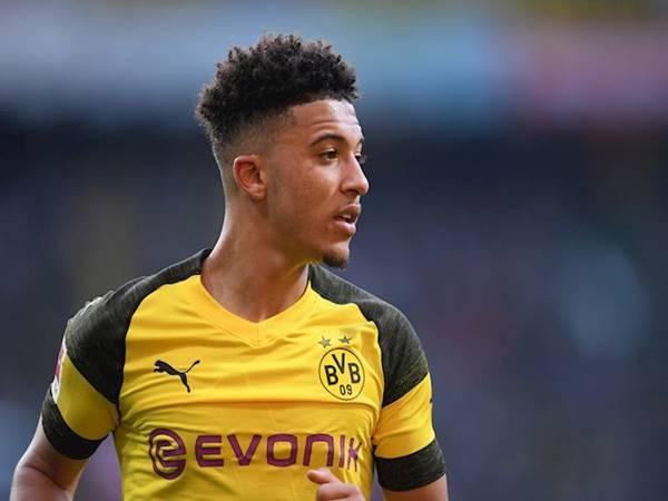 Jadon Sancho trong màu áo của Borussia Dortmund