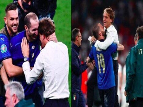 Tin bóng đá 12/7: Mancini có màn ăn mừng đầy cảm xúc với Italia